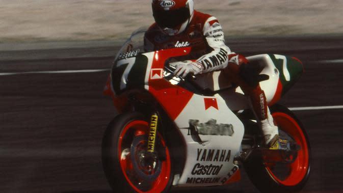 Pebalap asal Italia, Luca Cadalora, pernah menjadi runner-up kelas 500cc pada musim 1994. (alchetron.com)