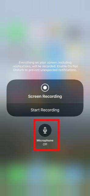 iPhone screen recording audio