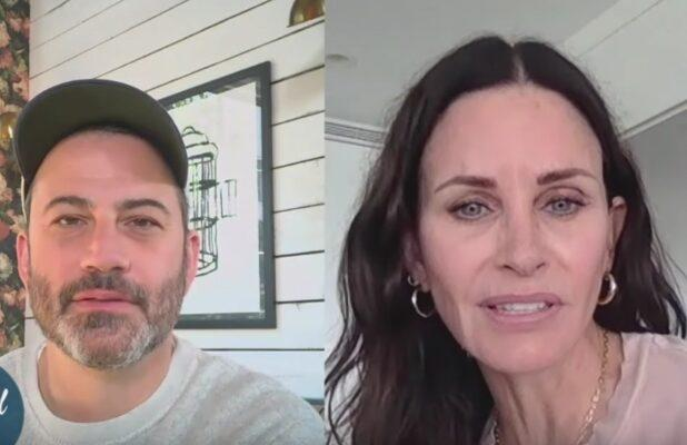 Courteney Cox Is Passing Her Isolation Time the Same Way You Are: Binge-Watching 'Friends' (Video)