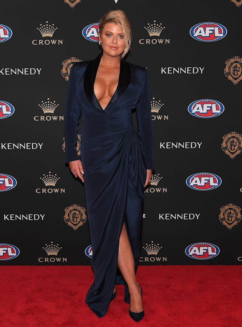 Emma Hawkins returned to the Brownlow with a bang. Photo: AAP