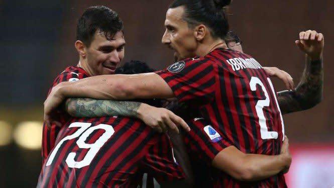 Ibrahimovic Cetak 2 Rekor Monster Saat Milan Bantai Sampdoria