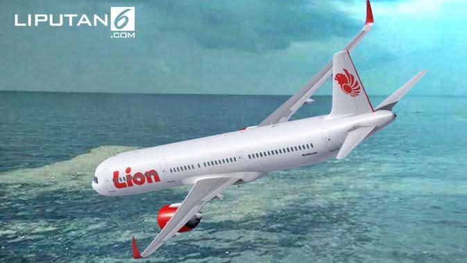 Banner Pesawat Lion Air JT 610 Jatuh (Liputan6.com/Tri Yasni)