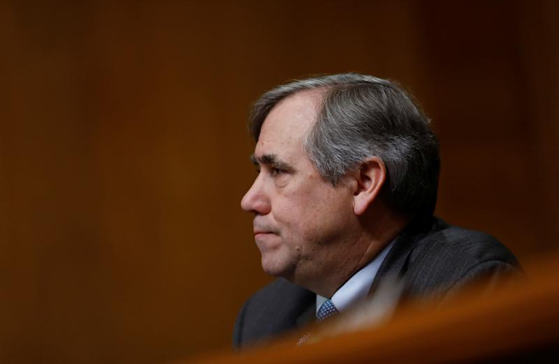 U.S. Sen. Jeff Merkley (D-OR) speaks during a U.S. Senate Committee on Environment and Public Works meeting on Capitol Hill in Washington, U.S. February 7, 2018. REUTERS/Eric Thayer