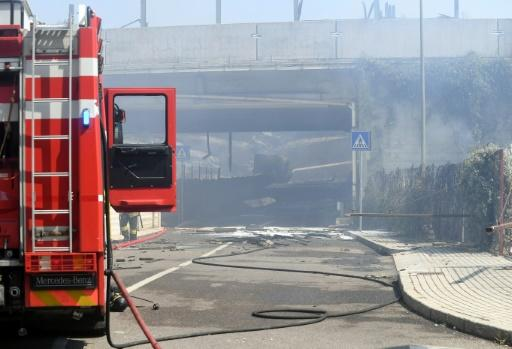 Italian Interior Minister Matteo Salvini said some 100 firefighters responded to the fiery accident