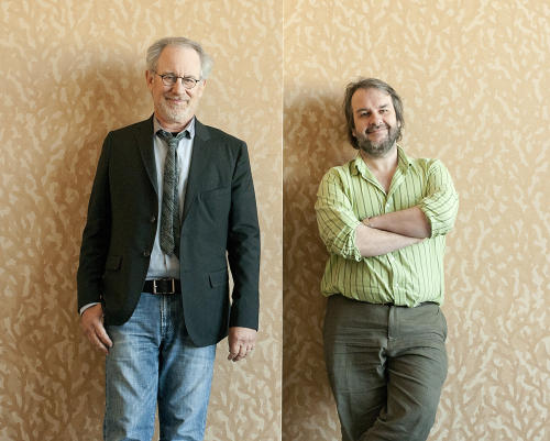 Directors Steven Spielberg, left, and Peter Jackson pose for a portrait at Comic Con in San Diego, Calif., on Friday, July 22, 2011. (AP Photo/Dan Steinberg)