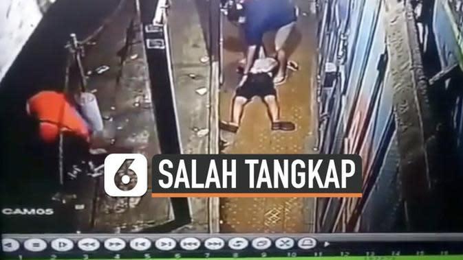 VIDEO : Numpang Wifi, Pria ini Kena Aksi Salah Tangkap