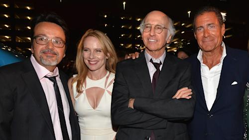 Larry David Talks Wigs, Beards at 'Clear History' Premiere