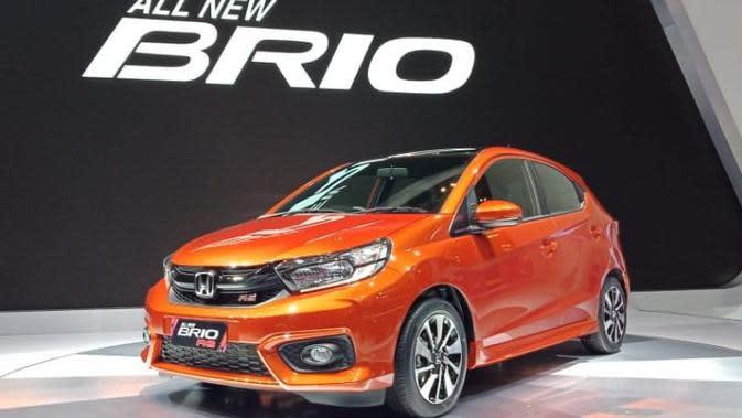 All New Honda Brio untuk pertama kalinya diperkenalkan di dunia pada perhelatan GIIAS 2018. (Arief/Liputan6.com)