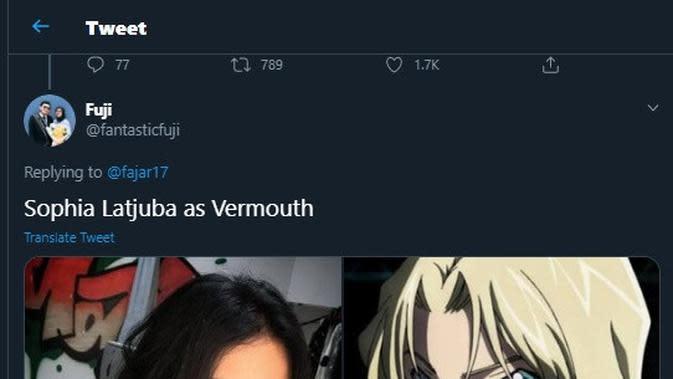 Cocoklogi seleb Indonesia mirip karakter Detective Conan (Sumber: Twitter/fajar17)