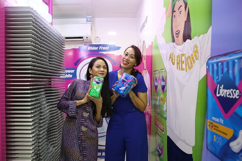 Filzah Awok (right) and Sharifah Amani have joined Libresse's 'Get Your Fit' campaign as brand advocates. — Picture by Yusof Mat Isa — Picture by Yusof Mat Isa