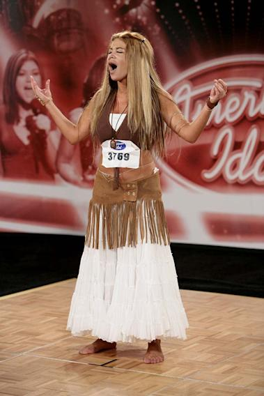 San diego contestant:  Tehilla takila lauder, 28, Studio City, CA auditioning on the 7th season of American Idol.