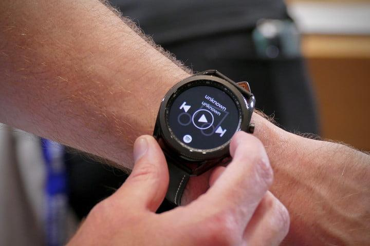 samsung galaxy watch 3 hands on features price photos release date 45mm bezel