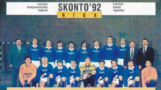 Skonto Riga merajai sepak bola Latvia. (Twitter)