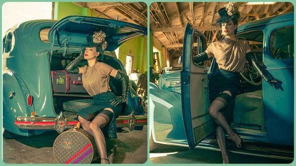 Dita Von Teese crafts a sultry goodbye for her 1939 Packard