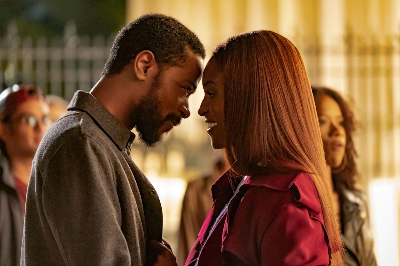 """<p>If you want to feel <em>all </em>the feels, head to your nearest movie theater to watch <em>Insecure</em> star Issa Rae connect with Lakeith Stanfield in this romantic drama that parallels the love story of Rae's character's mother (Chanté Adams), a photographer with secrets of her own.</p><p><a class=""""body-btn-link"""" href=""""https://go.redirectingat.com?id=74968X1596630&url=https%3A%2F%2Fwww.fandango.com%2Fthe-photograph-2020-221298%2Fmovie-times&sref=https%3A%2F%2Fwww.elle.com%2Fculture%2Fmovies-tv%2Fg30918033%2Fbest-romantic-movies-2020%2F"""" target=""""_blank"""">Get tickets</a></p>"""