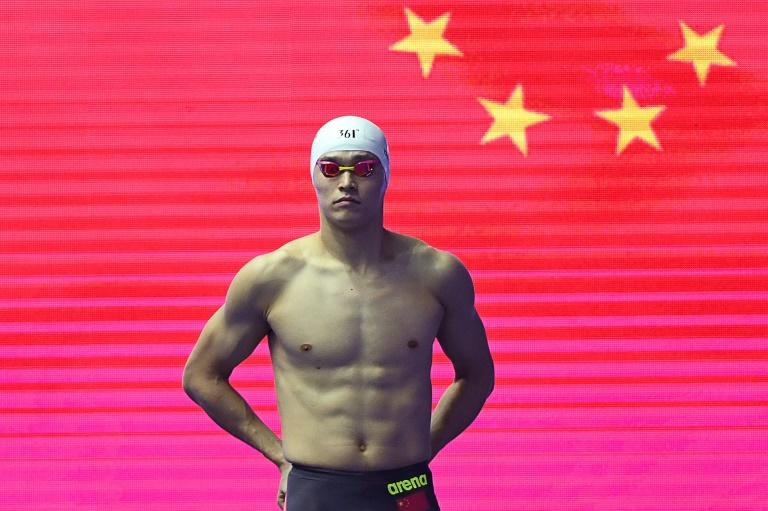 China's Sun Yang, pictured on July 24, 2019, at the World Championships in Gwangju, South Korea