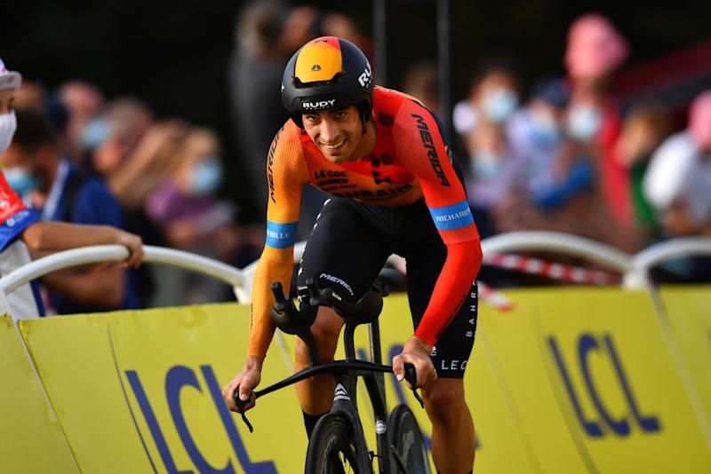 LA PLANCHE FRANCE SEPTEMBER 19 Mikel Landa Meana of Spain and Team Bahrain Mclaren during the 107th Tour de France 2020 Stage 20 a 362km Individual Time Trial stage from Lure to La Planche Des Belles Filles 1035m ITT TDF2020 LeTour on September 19 2020 in La Planche France Photo by Stuart FranklinGetty Images
