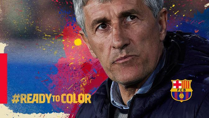Quique Setien resmi menjadi pelatih Barcelona menggantikan Ernesto Valverde. (Foto: Barcelona)