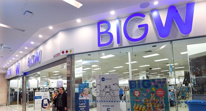 A stock image of a Big W store. The Noosa Civic store manager said they were offering clothes that would have been donated.