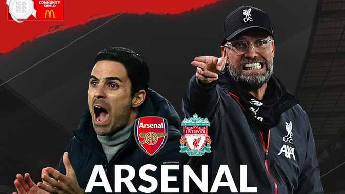 Community Shield - Arsenal Vs Liverpool - Head to Head Pelatih (Bola.com/Adreanus Titus)