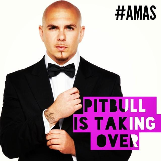 Exclusive! Pitbull Takes Over Yahoo Music's Instagram Backstage At the AMAs