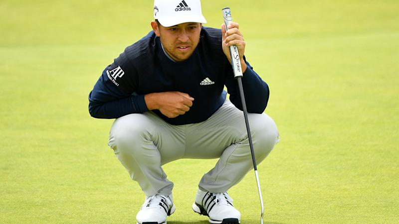 Xander Schauffele in action at the British Open on Saturday. (Photo by Stuart Franklin/Getty Images)