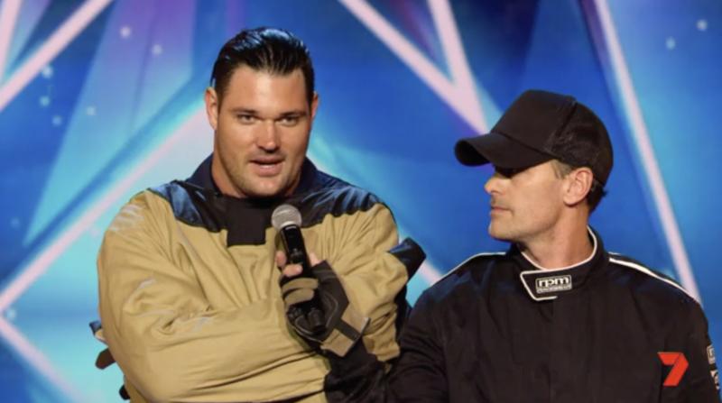 Former Bachelor star Apollo Jackson's Australia's Got Talent audition shocks the judges. Photo: Channel Seven