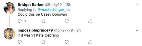A screenshot of tweets in response to The Masked Singer's Lion clue.