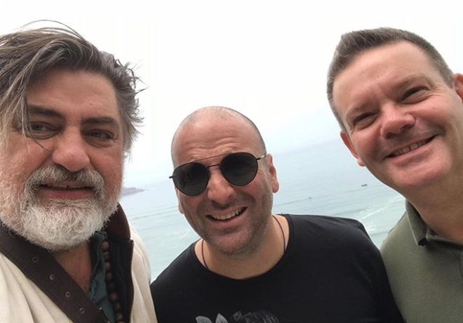 MasterChef judges George Calombaris, Gary Mehigan and Matt Preston pictured on Instagram