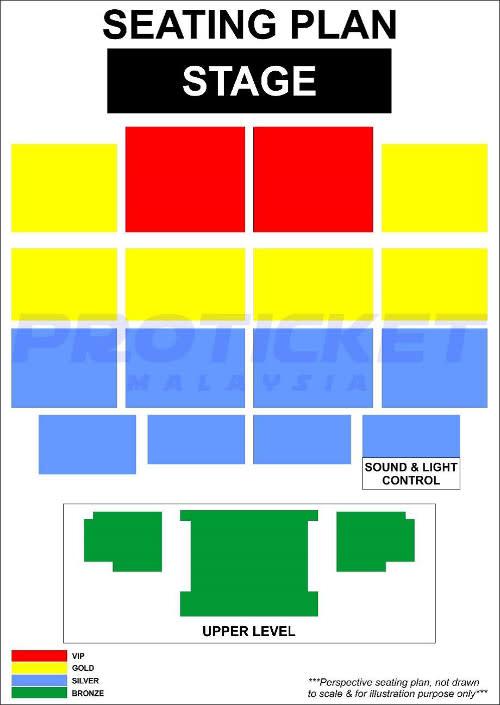 "The seating plan for ""Kumar Fifty50"" in Kuala Lumpur."