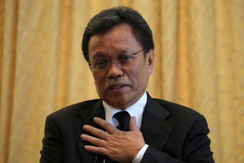 Datuk Seri Mohd Shafie Apdal speaks during a joint interview in Kuala Lumpur July 14, 2020. — Reuters pic