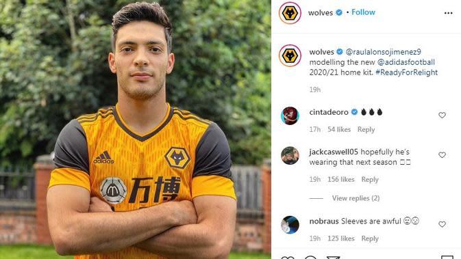 Seragam Wolverhampton. (Instagram)