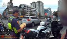 違規闖公車專用道 騎士遭開單暴走嗆警