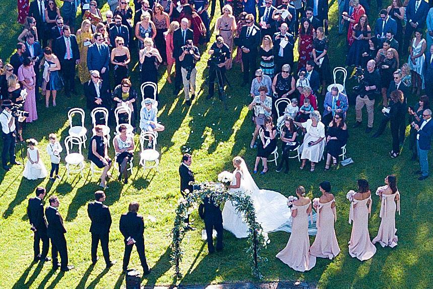 Sylvia Jeffreys & Peter Stefanovic tied the knot in Kangaroo Valley on Saturday.