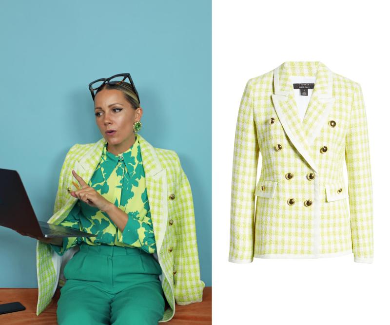 Neon Tweed Blazer. Images via Nordstrom.