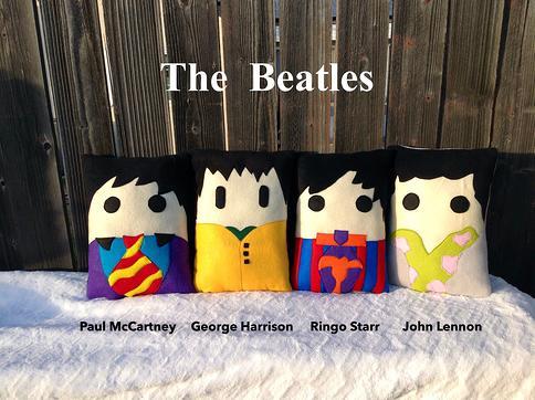 The Beatles Pillow Set Ringo George Paul John Lennon Pillow Yellow Submarine Inspired Character Decor Decor Pillows Yahoo Shopping