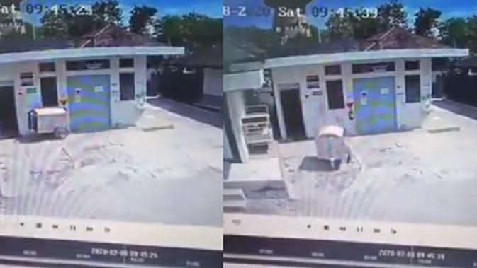 Heboh Gerobak Medis RSUD Wonosari Bergerak Sendiri Terekam CCTV