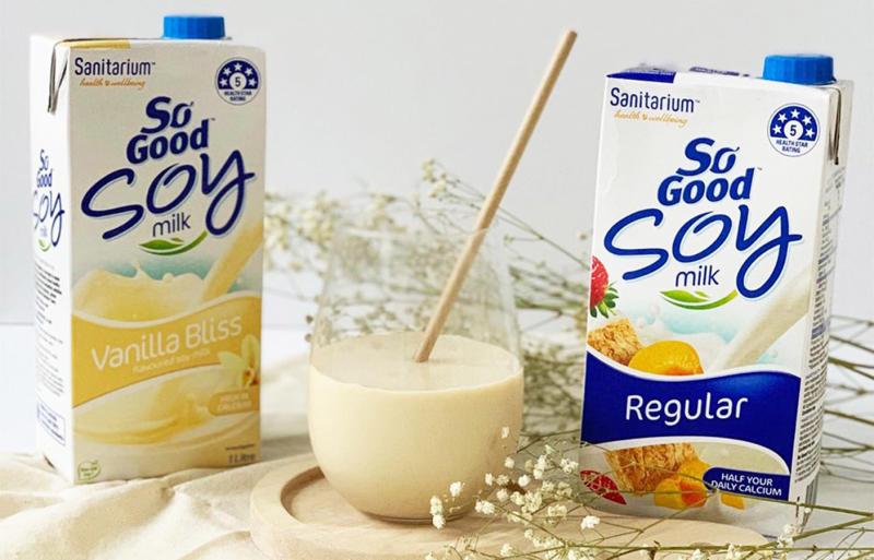 soy milk. Source: Sanitarium