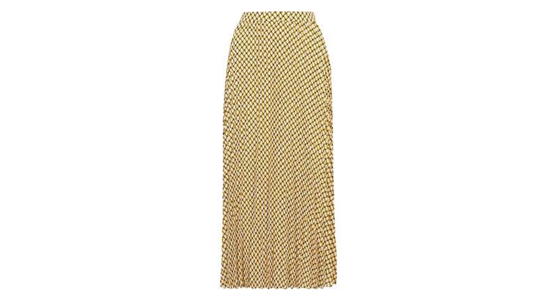 Geometric Midaxi Midi Pleated Skirt