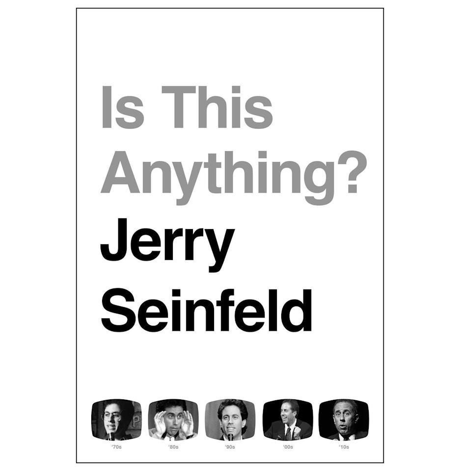 """<p><strong>By Jerry Seinfeld</strong></p><p>bookshop.org</p><p><strong>$32.20</strong></p><p><a href=""""https://go.redirectingat.com?id=74968X1596630&url=https%3A%2F%2Fbookshop.org%2Fbooks%2Fis-this-anything%2F9781982112691&sref=https%3A%2F%2Fwww.esquire.com%2Flifestyle%2Fg34096751%2Fseinfeld-gifts%2F"""" target=""""_blank"""">Buy</a></p><p>Jerry Seinfeld's comedic stylings aren't for everyone. However, they are <em>very much</em> for others. In his first book in 25 years, out in October, Seinfeld walks through the decades of jokes, insights, and otherwise inane humor that made him a beloved comic.</p>"""