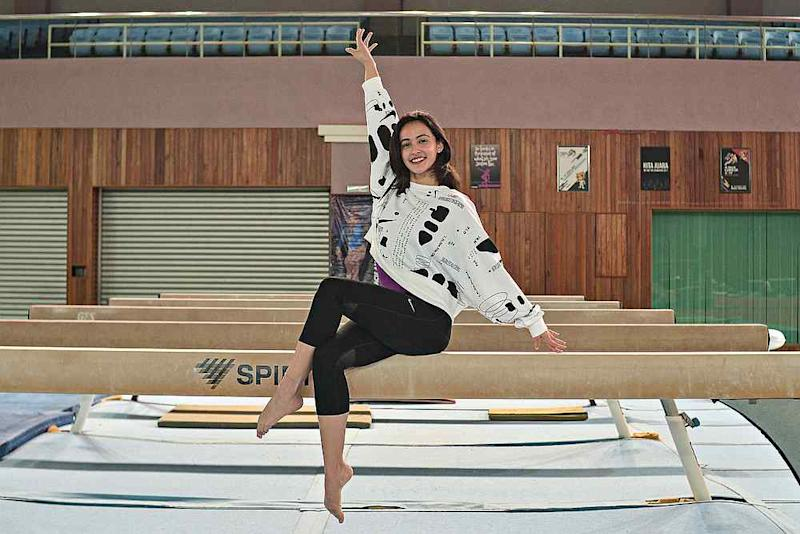 As a kid, Farah used to love jumping around the playground near her home, so it seems that being a gymnast was always deeply rooted in her. — Picture by Shafwan Zaidon