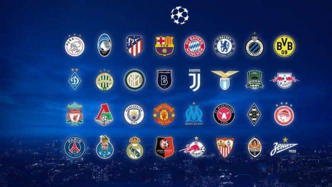 Hasil Lengkap Undian Fase Grup Liga Champions