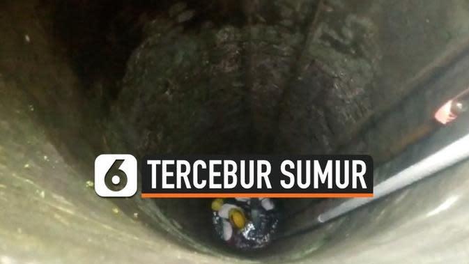VIDEO: Detik-Detik Evakuasi Warga Tercebur Sumur 15 Meter