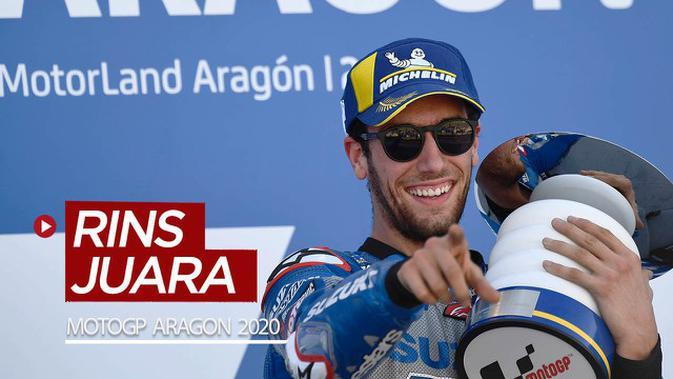 VIDEO MotoGP Aragon 2020: Alex Rins Juara, Fabio Quartararo Terpuruk