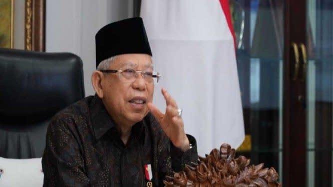 Ma'ruf Amin Dapat Penghargaan Tokoh Syariah 2020