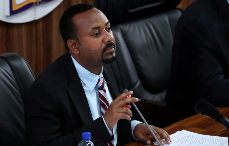 FILE PHOTO: Ethiopia's Prime Minister Abiy Ahmed speaks during a session with the Members of the Parliament in Addis Ababa