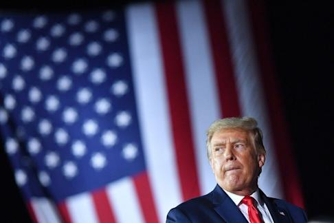 US President Donald Trump during a rally at MBS International Airport in Freeland, Michigan on September 10, 2020. The S&P 500 gained 43 per cent since he took office, as of September 23, with gains in the stock indexes of Hong Kong, Shanghai and Shenzhen markets. Photo: Agence France-Presse