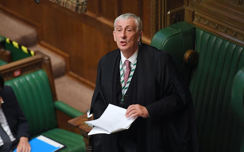 Speaker of the House Lindsay Hoyle s understood to have been angry that Matt Hancock imposed further lockdown restrictions on his constituency without telling Parliament first - Jessica Taylor/Shutterstock