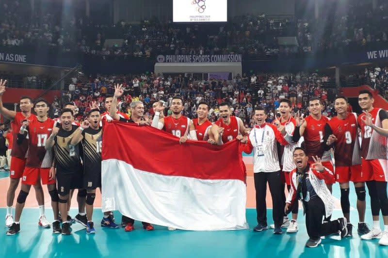 Tim voli putra Indonesia rebut emas setelah menunggu 10 tahun