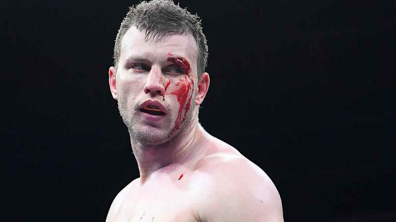 Jeff Horn, pictured here during his brutal loss.
